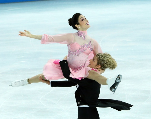 Meryl Davis and Charlie White perform in the Team Short Dance event at the Iceberg at the Sochi 2014 Winter Olympics, February 08, 2014. Photo by Jean Levac/Postmedia Olympic Team